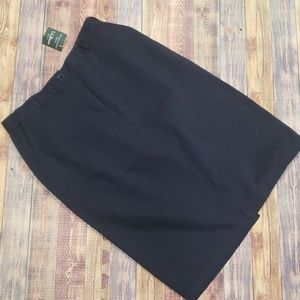 L.L. BEAN 100% COTTON  CHINO SKIRT NEW WITH TAG